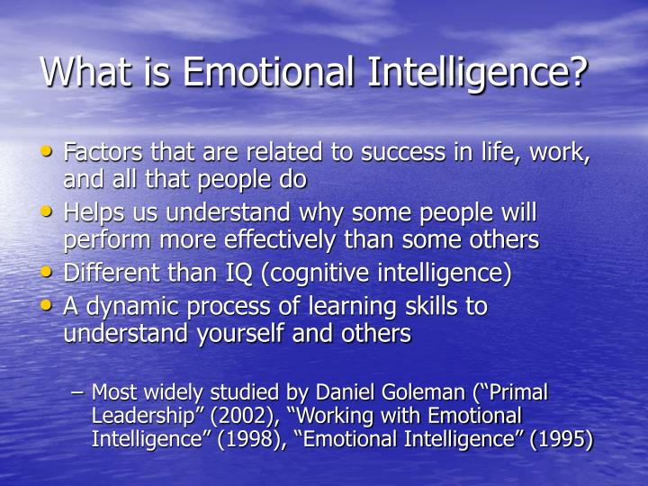 What is emotional intelligence