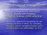 what is emotional intelligence1