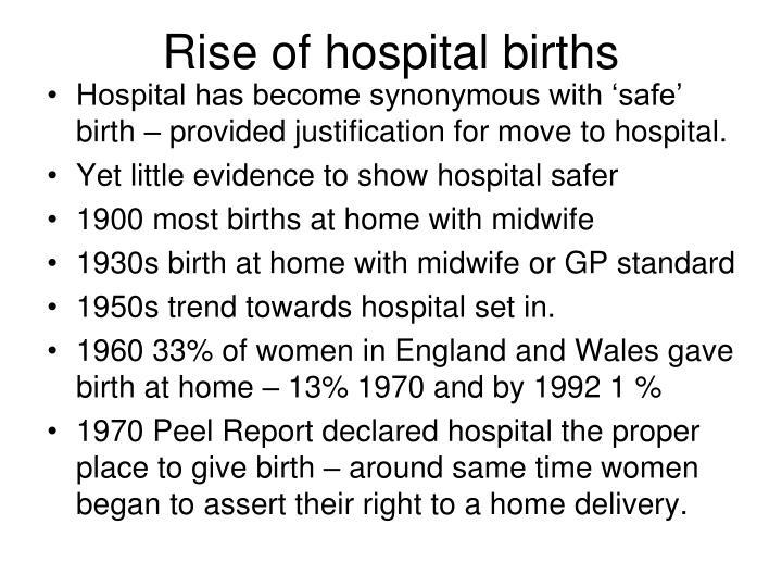 Rise of hospital births