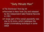 sixty minute man
