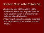 southern music in the postwar era2