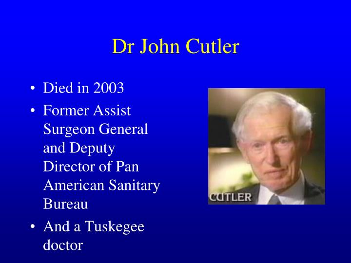 Dr John Cutler