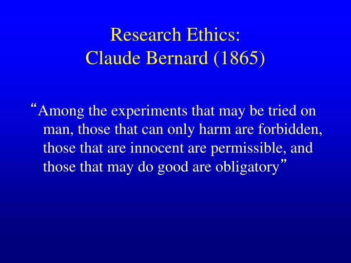 Research Ethics: