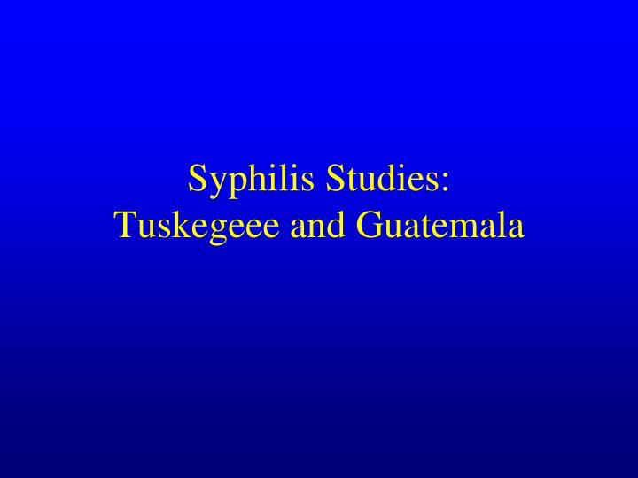Syphilis Studies: