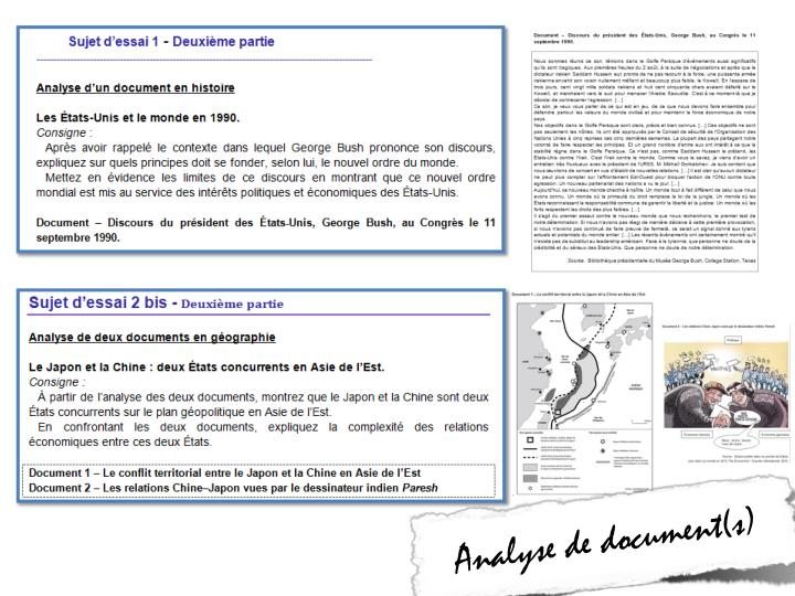 Analyse de document(s)