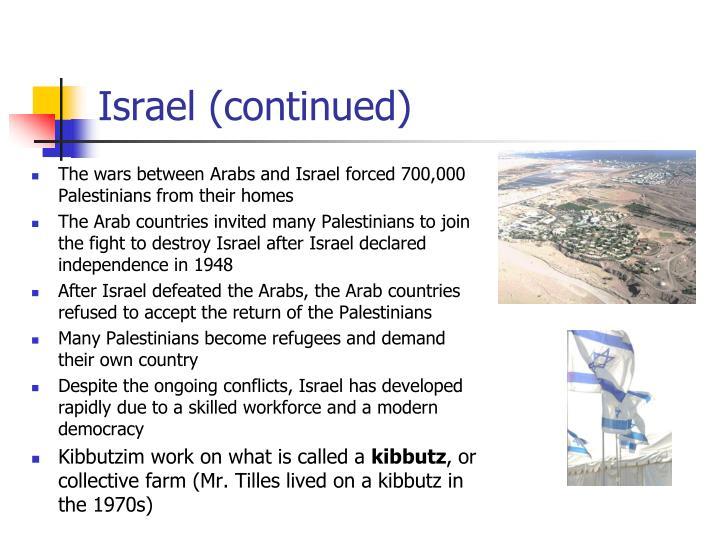 Israel (continued)