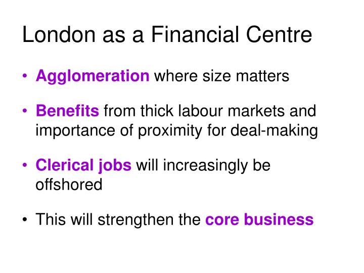 London as a Financial Centre