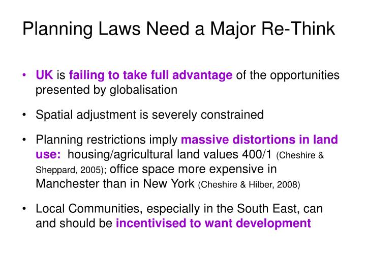 Planning Laws Need a Major Re-Think