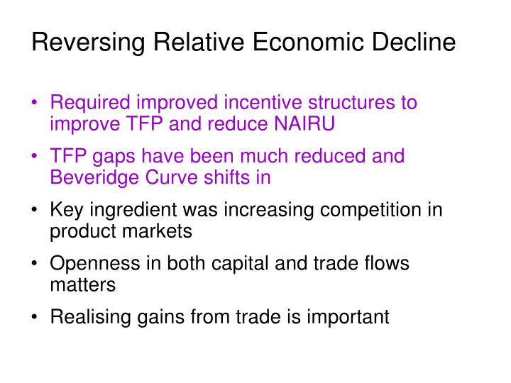 Reversing Relative Economic Decline