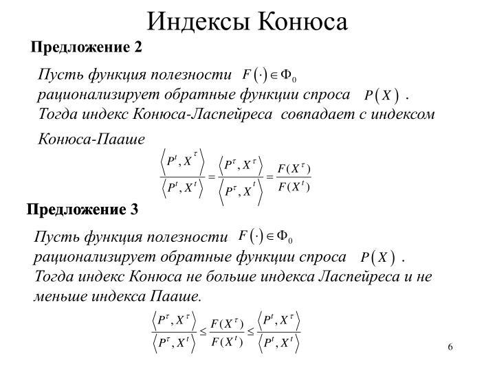 Индексы Конюса