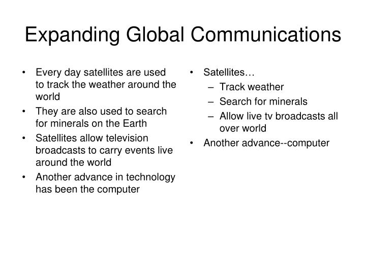 Every day satellites are used to track the weather around the world