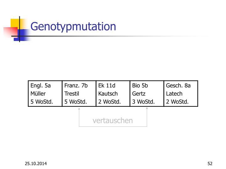 Genotypmutation