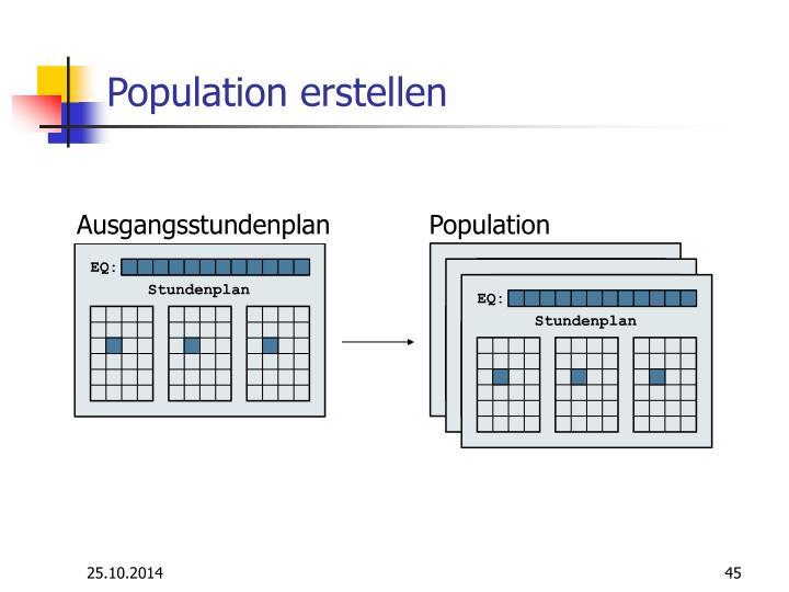 Population erstellen