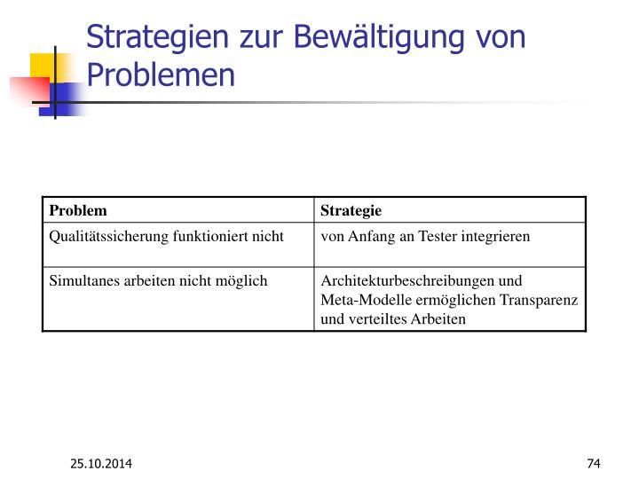 Strategien zur Bewältigung von Problemen