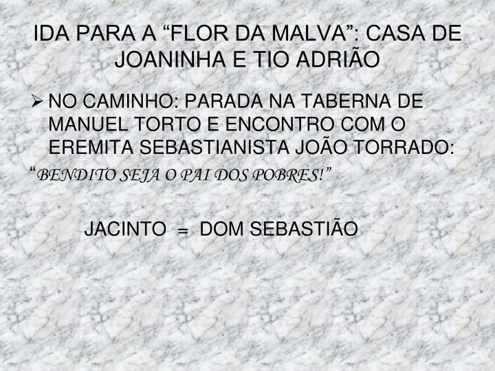 """IDA PARA A """"FLOR DA MALVA"""": CASA DE JOANINHA E TIO ADRIÃO"""