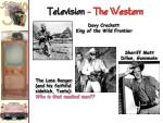 television the western