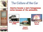 the culture of the car1