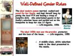 well defined gender roles