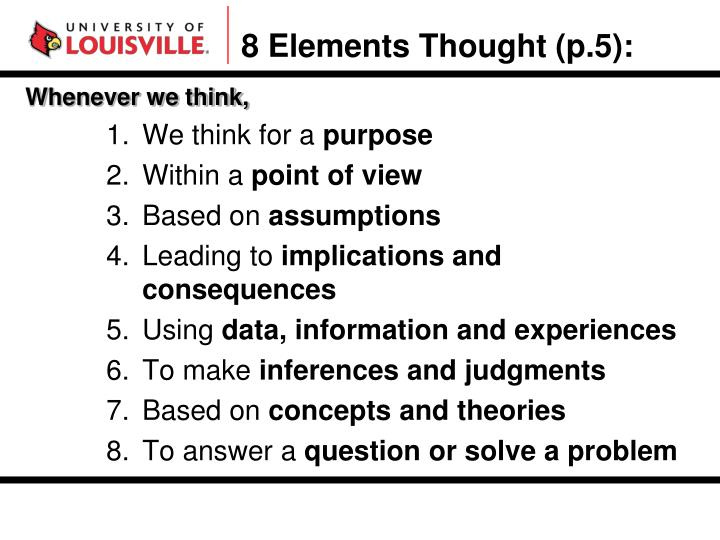 8 Elements Thought (p.5):
