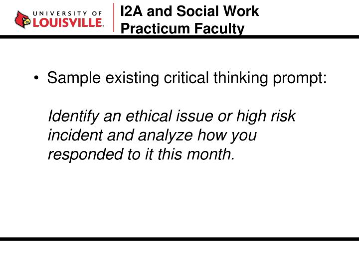 I2A and Social Work