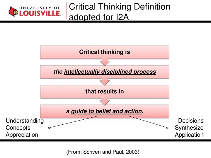 Critical Thinking Definition