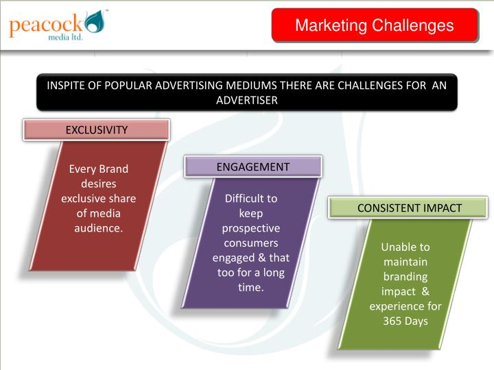 INSPITE OF POPULAR ADVERTISING MEDIUMS THERE ARE CHALLENGES FOR  AN ADVERTISER