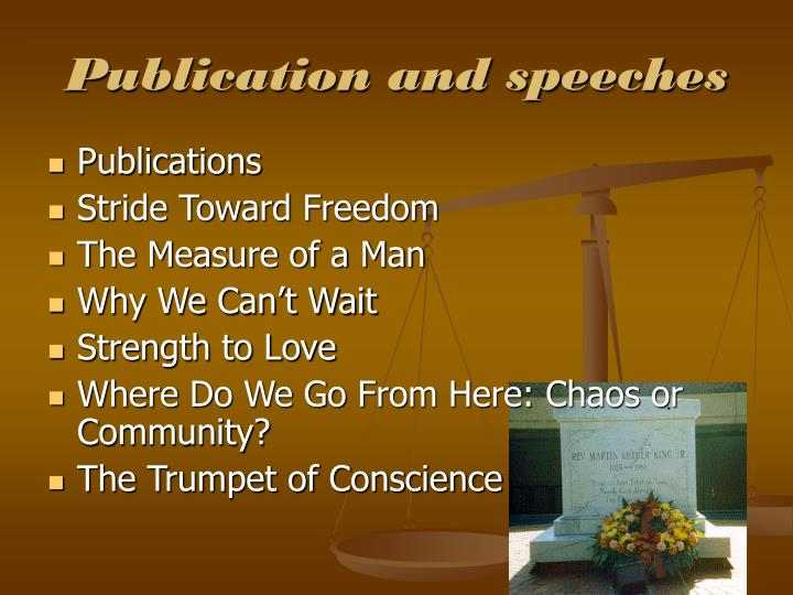 Publication and speeches