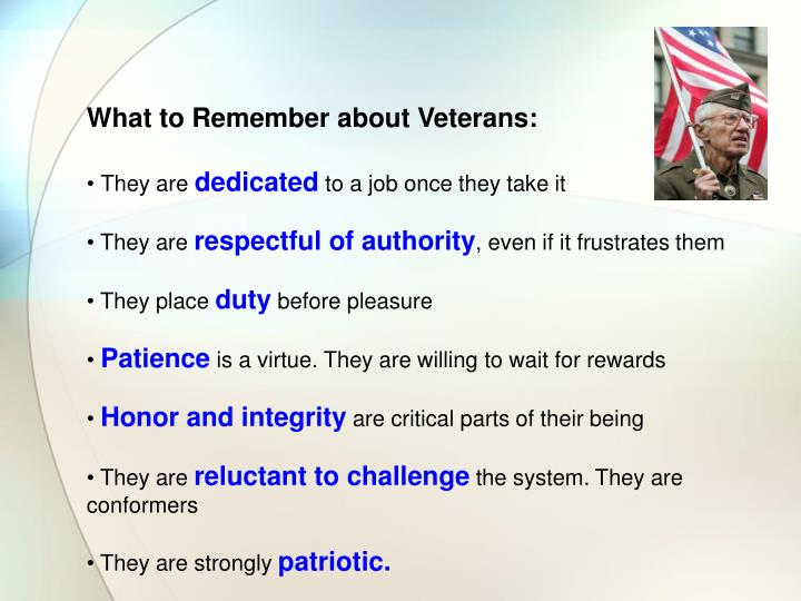 What to Remember about Veterans: