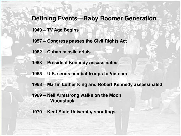 Defining Events—Baby Boomer Generation