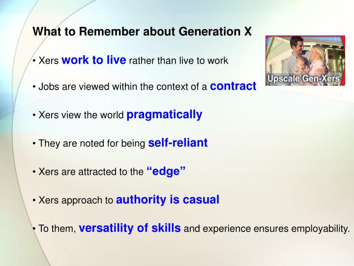 What to Remember about Generation X