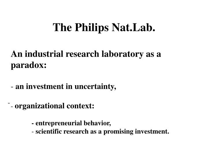 The Philips Nat.Lab.