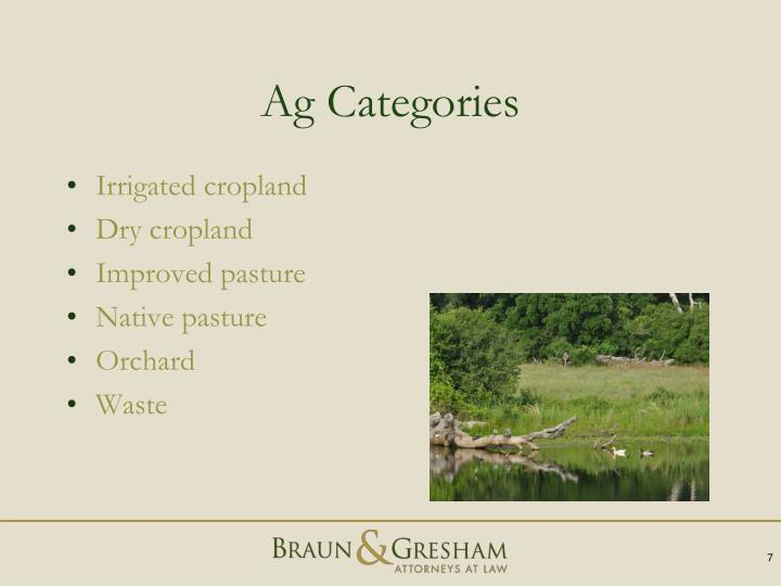 Ag Categories