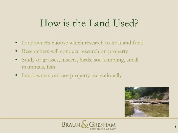 How is the Land Used?