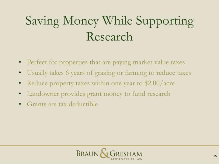 Saving Money While Supporting Research