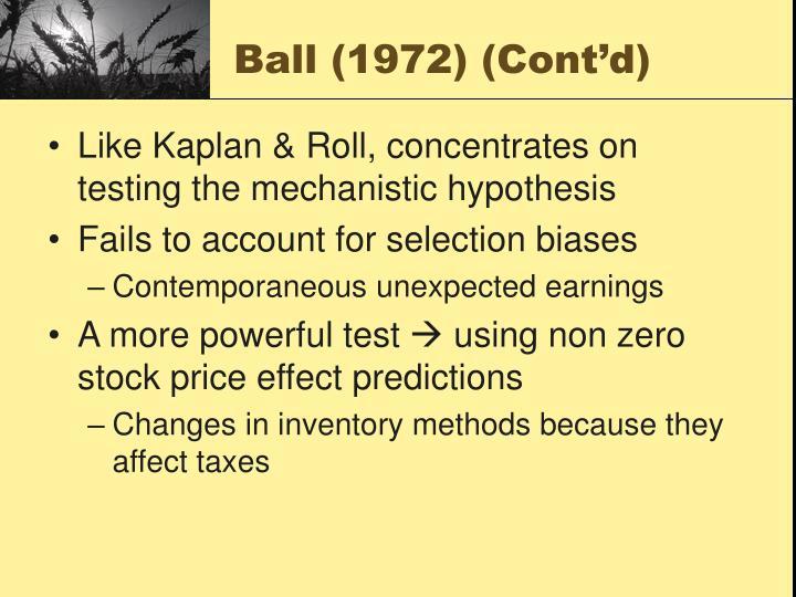 Ball (1972) (Cont'd)