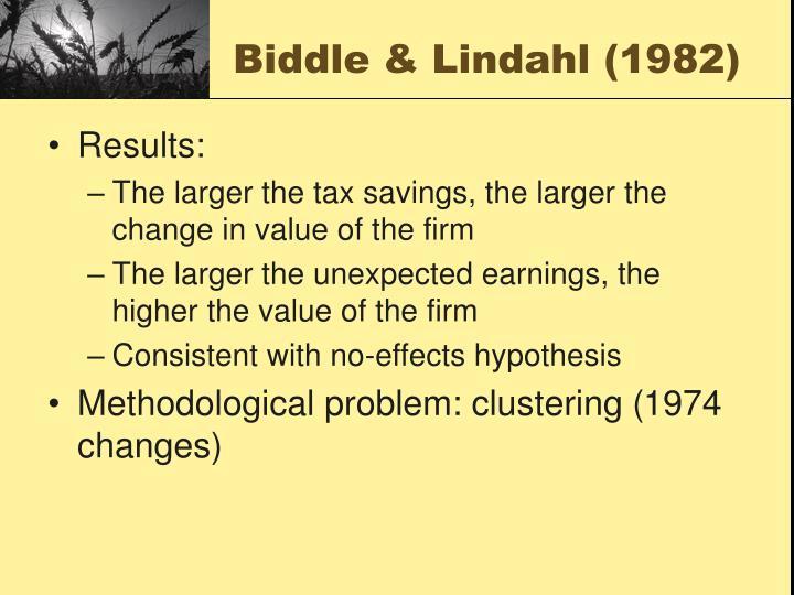 Biddle & Lindahl (1982)