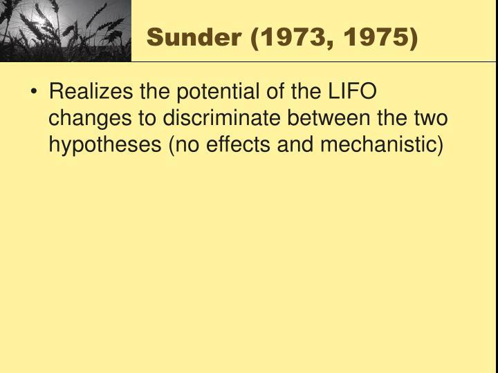 Sunder (1973, 1975)