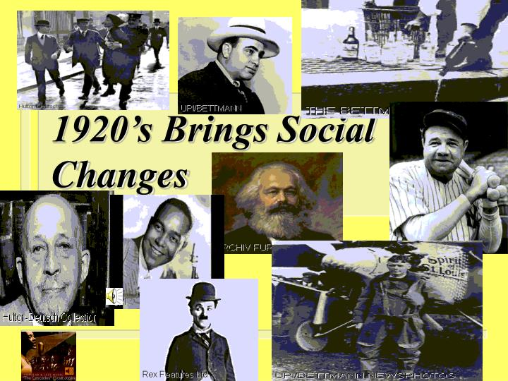 social tension of the 1920s and 'roaring twenties' a time of economic and social change  changes in the day-to-day social life of the american people the 1920s are remembered now as an exciting .