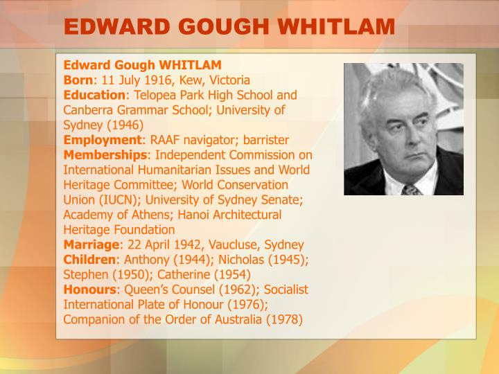 Edward gough whitlam