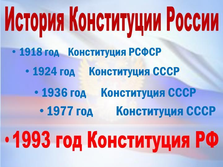 История Конституции России