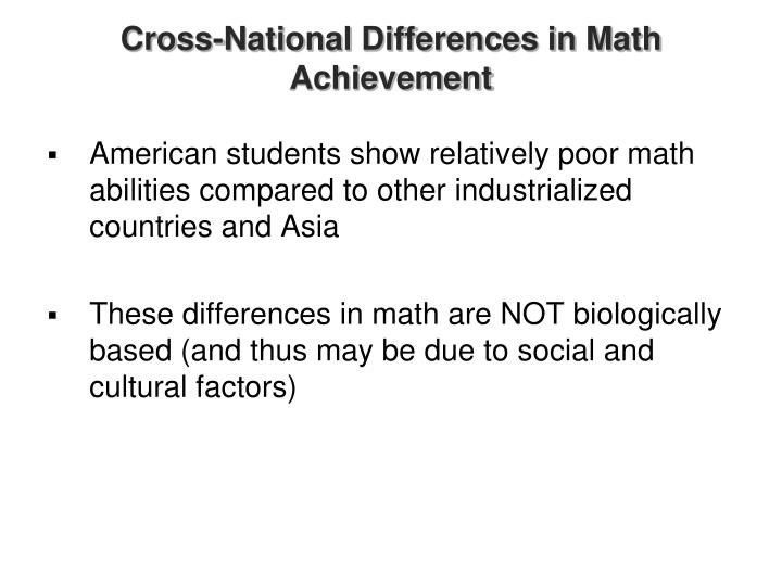 Cross-National Differences in Math Achievement