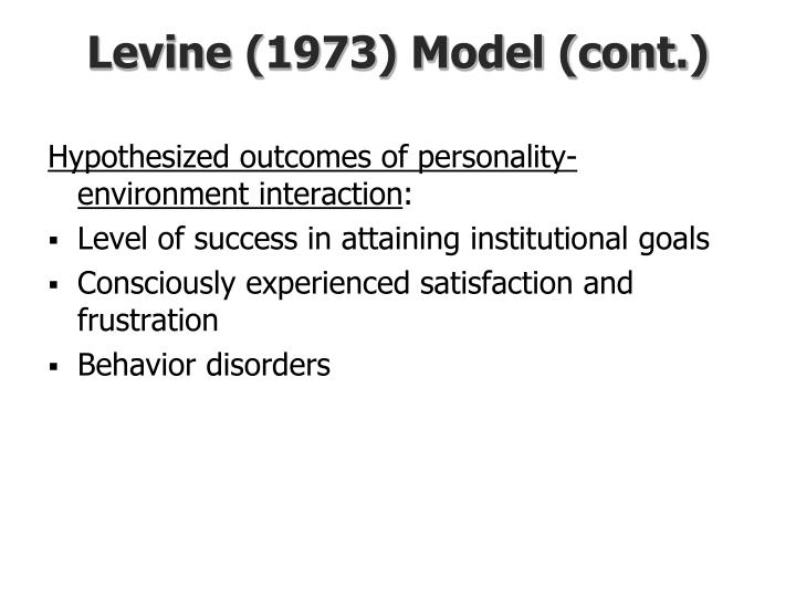Levine (1973) Model (cont.)
