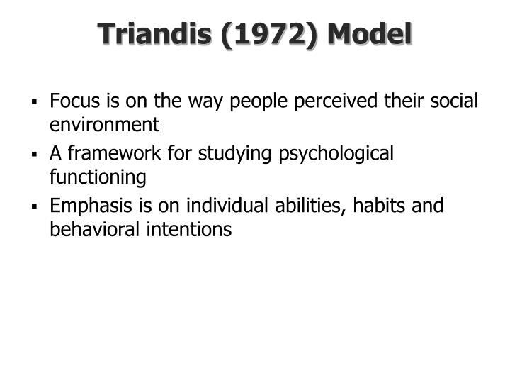 Triandis (1972) Model