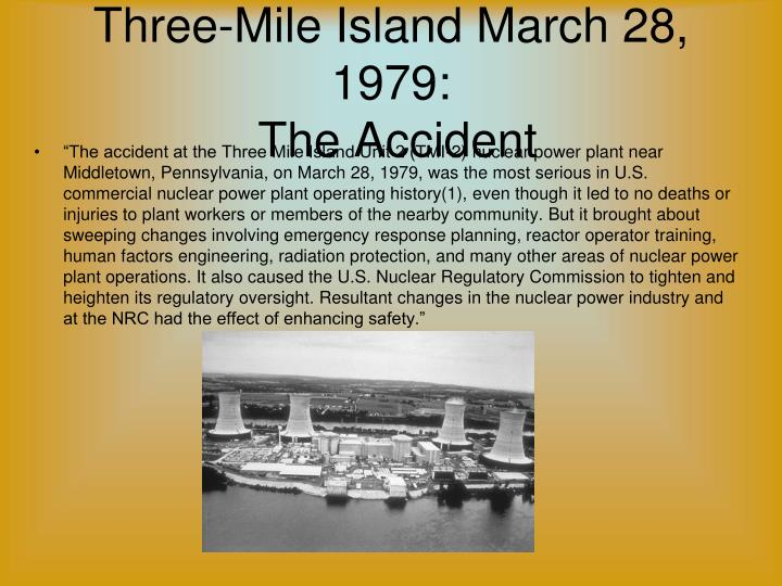 the three mile island accident essay