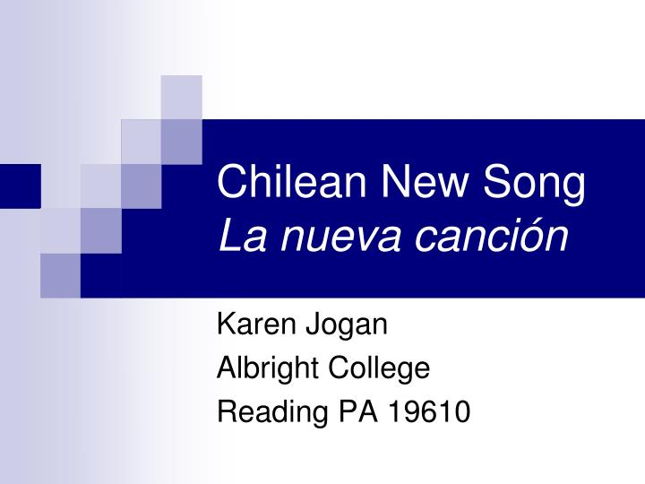 Chilean new song la nueva canci n