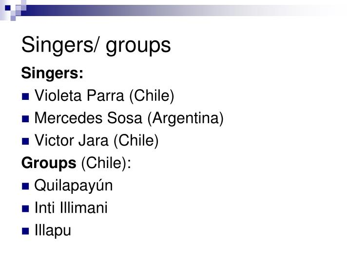 Singers/ groups