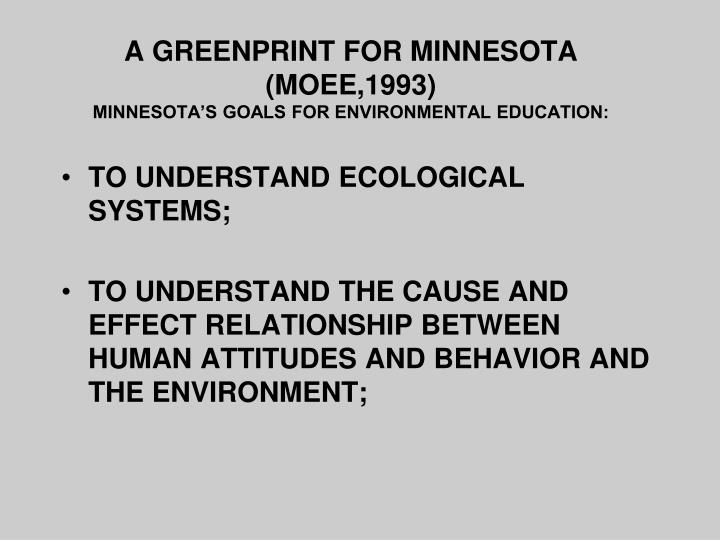 A GREENPRINT FOR MINNESOTA