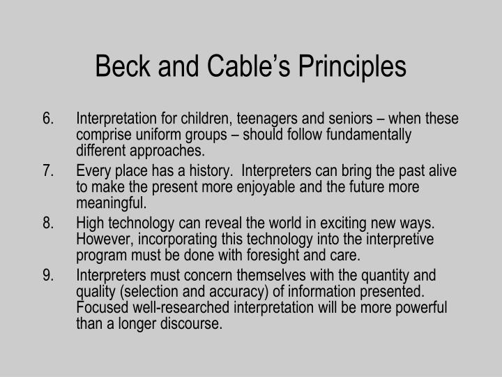 Beck and Cable