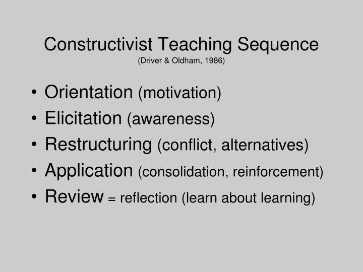 Constructivist Teaching Sequence
