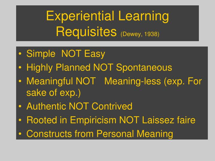Experiential Learning Requisites